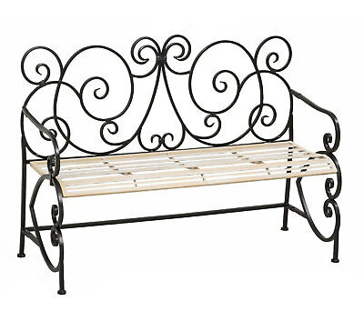 $198 • Buy European Scroll Indoor/Outdoor Metal Garden Bench - Free Shipping