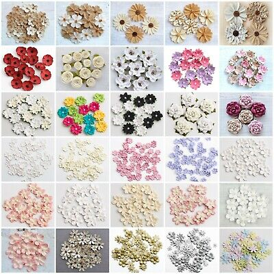 Handcrafted Floral Decorations - Handmade Card Making Embellishment Crafts • 2.85£