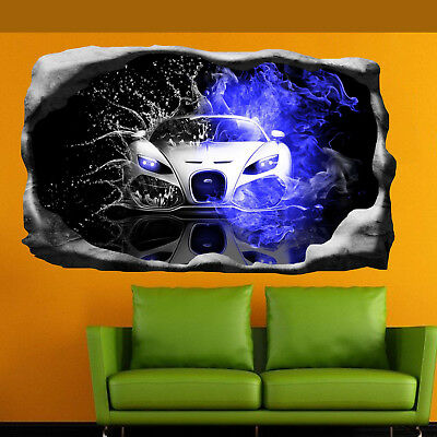 £22.99 • Buy Super Sports Car Art Poster Wall Stickers 3d Mural Decal Home Office Decor SJ1