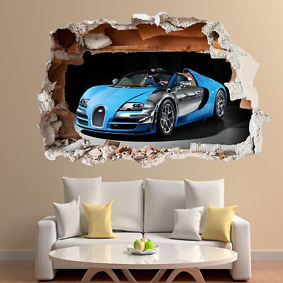 £22.99 • Buy Fast Sports Cars Wall Stickers 3d Art Mural Decal Home Office Decor SJ2