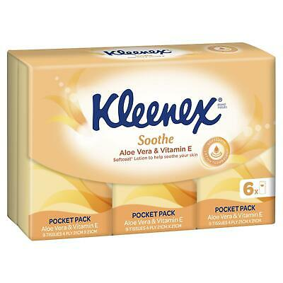 AU3.74 • Buy Kleenex To Go Aloe Vera Handy Tissues Pack Of 6 Travel Handy Soft 4 Fly