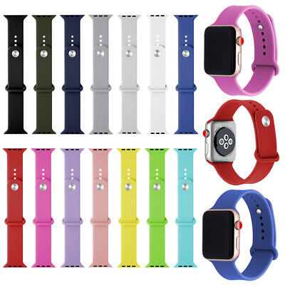 $ CDN9.80 • Buy Replacement Silicone Sports Band Strap For Apple Watch Series 4/3/2/1 38mm-44mm