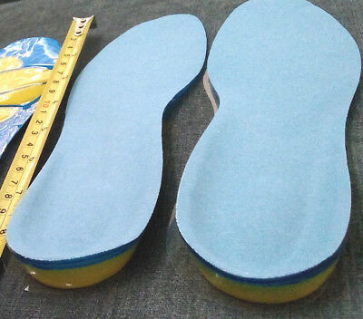 Ladies Silicone Insoles Pads Cushions Comfort Shoes Heel Arch Support Foot-care • 4.63£