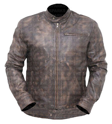 $128.40 • Buy MacGyver Series Angus Costume Lucas Till Stylish Wear Distressed Leather Jacket