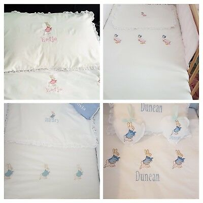 Peter Rabbit, Mopsy Or Jamima Puddle Duck Bedding Sets FREE PERSONALISATION  • 50£
