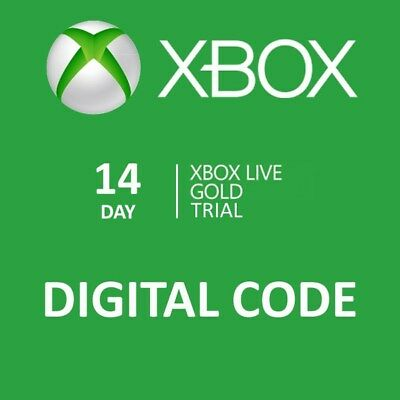$5.99 • Buy 14 Day Xbox One Live Gold Trial Membership Digital Codes Fast Email Delivery