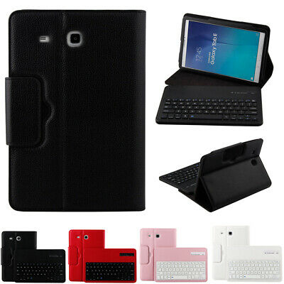 Bluetooth Keyboard PU Leather Flip Stand Case Cover For Samsung Galaxy Tablet • 29.49£