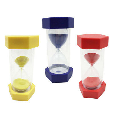 AU24.14 • Buy 1/2/3 Mins Sand Timer Sandglass Hourglass Kitchen Exercise Clock Decor