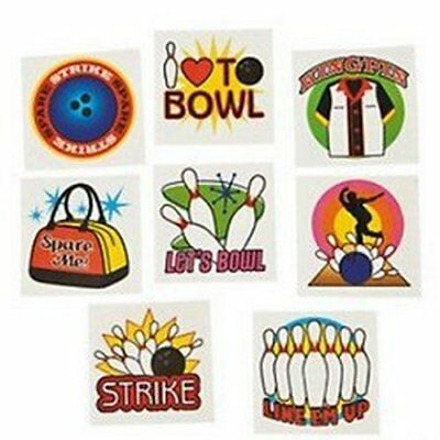 £2.40 • Buy Ten Pin Bowling Temporary Tattoos - Bowl Party Bag Fillers Pack Sizes 6 - 36
