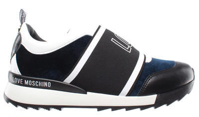 LOVE MOSCHINO Zapatos Mujer Sneakers Scarpa D Running 25 Velluto Blu Made  Italy • 139.65€ eb44b693f51d