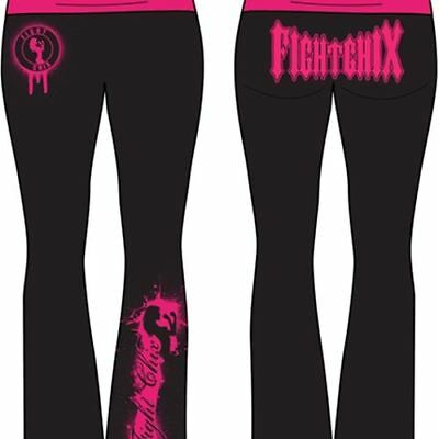 AU10 • Buy FIGHT CHIX Yoga Spike Pink On Black Pants