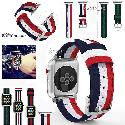 AU10.99 • Buy AU Woven Nylon Sports Strap Band For Apple Watch IWatch Serie 5/4/3/2/1 38/42mm