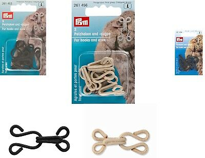 £2.99 • Buy Prym Fur Hooks And Covered Eyes, Pack Of 3. VARIOUS COLOURS. BARGAIN.