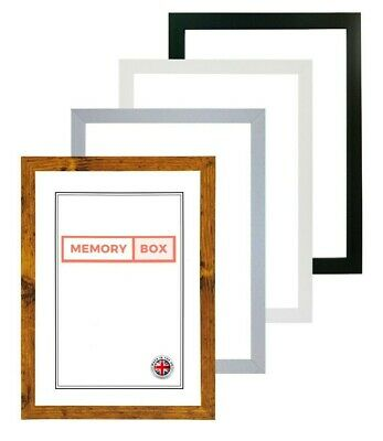 £8.55 • Buy A2 A3 A4 A5 Black Photo Frame White Picture Frame Poster Frames Walnut 20mm