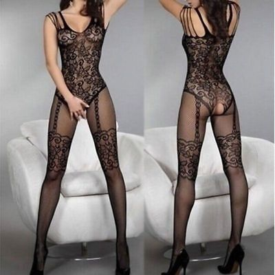 $6.48 • Buy Women Sexy Lingerie Sheer Fishnet Body Stockings Sleepwear Bodysuit Nightwear