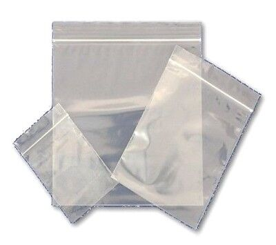 Thick Grip Seal Bags Clear Poly Plastic Resealable Heavy Duty Small Large To 11  • 3.19£