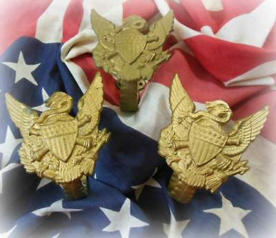 $48 • Buy ANTIQUE 60's CAST IRON MILITARY EAGLE WALL HAT HOOKS LOT OF 3 CROSS CANNON