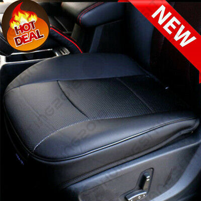 $ CDN63.43 • Buy PU Leather Deluxe Car Cover Seat Protector Cushion Black Front Cover Universal X