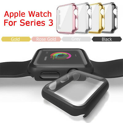$ CDN2.96 • Buy For Apple Watch Series 1/2/3 38/42MM Full Cover Snap On Case Screen Protector