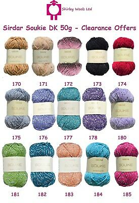 Sirdar Soukie DK 50g - Clearance Offer Includes Free Patterns • 1.99£