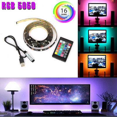 $8.95 • Buy LED TV USB Backlight Kit Computer RGB LED Light Strip TV Background Lights 1M/2M