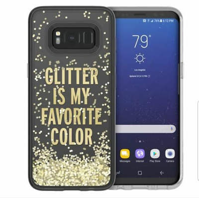 $ CDN7.16 • Buy Kate Spade Samsung Galaxy S8 Plus Case - Glitter Is My Favorite Color - Gold NEW