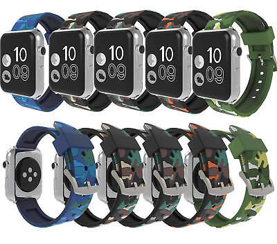 $ CDN12.68 • Buy Camouflage Silicone Replacement Strap Watch Band For Apple Watch Series 4 3 2 1