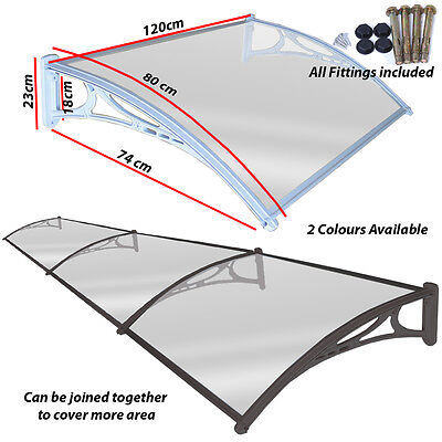 £49.99 • Buy Door Canopy Awning Shelter Porch Shade Roof Cover Outdoor Front Back Canopies