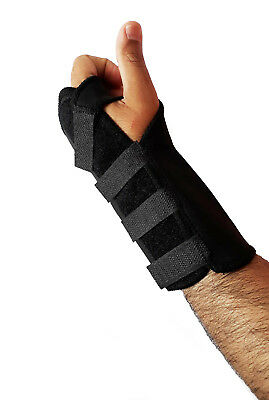 Black Wrist Support For Pain Relief Carpal Tunnel Hand Brace RSI Recover Injury  • 3.99£
