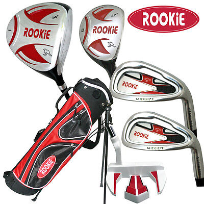 AU199 • Buy JUNIOR RH GOLF SET 6 PCE For KIDS 10yrs Plus WITH HYBRID - CHILDRENS GOLF CLUBS