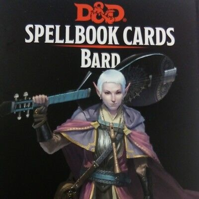 AU30.22 • Buy Spellbook Cards Bard Deck Spell Dungeons Dragons D&D RPG Gale Force Nine GF9 5e
