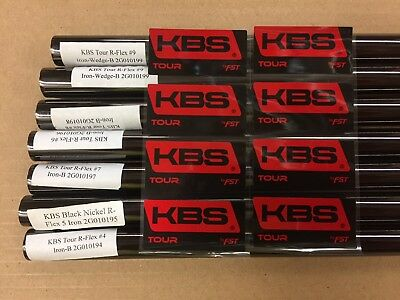 AU178.98 • Buy New KBS Tour Black Nickel Regular Flex Iron Steel Shafts .355 110G Choose Set