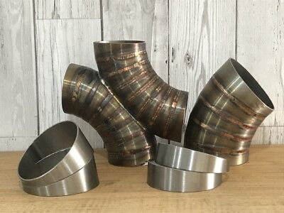 """£1.80 • Buy Qty-1 Stainless Steel Exhaust 10° Pie Cut 3.0"""" 76mm Elbow Rough Cut"""