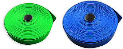 Layflat PVC Water Delivery Hose - Discharge Pipe Pump Lay Flat Irrigation • 12.45£
