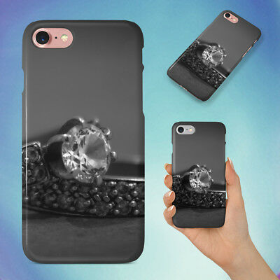 AU10.95 • Buy Silver With Diamond Rings Hard Back Case For Apple Iphone Phone