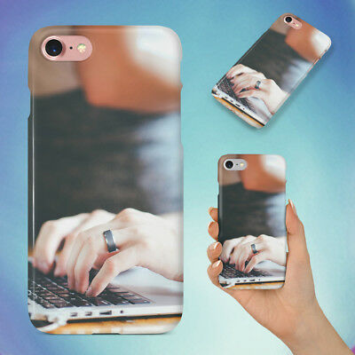AU10.95 • Buy Person With Grey Ring Using Tech Hard Back Case For Apple Iphone Phone