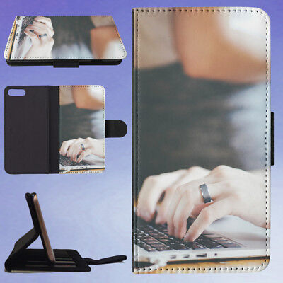 AU15.95 • Buy Person With Grey Ring Using Tech Flip Wallet Case For Apple Iphone Phones