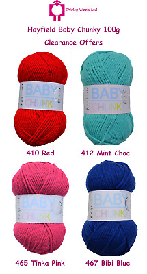 Hayfield Baby Chunky 100g - Clearance Offer • 1.99£