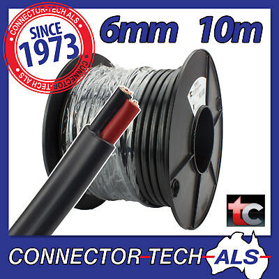 AU49.95 • Buy 10 Metres 6mm Twin Core Wire Tycab Cable 10M 4WD Caravan 12V Battery  #TC6MMx10