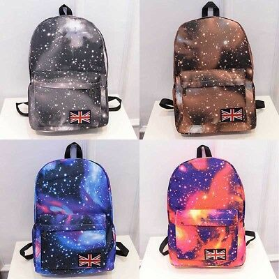 $15.85 • Buy Unisex Girls Boys 3D Galaxy Travel Backpack Rucksack Shoulder Bookbag School Bag