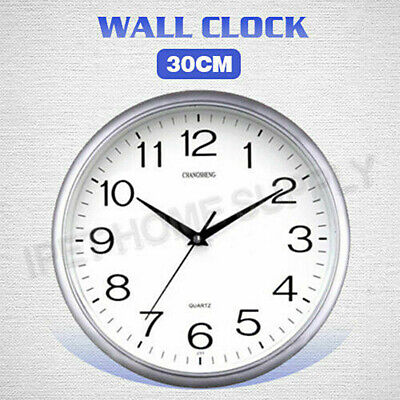 AU14.83 • Buy Wall Clock Quartz Round Wall Clock Silent Non Ticking Battery Operated 12 Inch