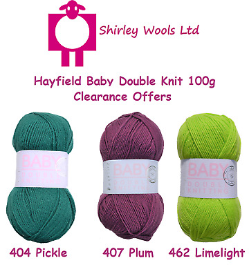 Hayfield Baby DK 100g - Clearance Offer - Includes FREE PATTERNS • 1.99£