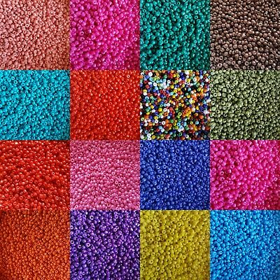 Pack Of 3mm, 8/0 Bold Bright Colour Seed Beads, Use For Peyote Craft, Jewellery • 2£