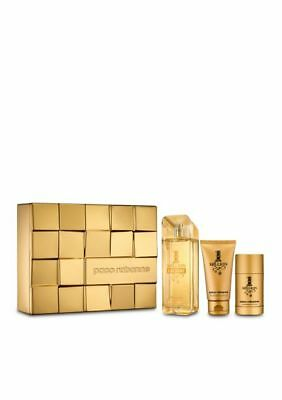 $ CDN115.47 • Buy NEW Authentic 1 Million Cologne For Men By Paco Rabanne 3 Pc. Gift Set 4.2 Oz