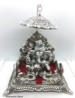 Ganesh Ganesha Beautiful Hindu God On Elephant Base Pooja Puja Room Metal Statue • 23.16£
