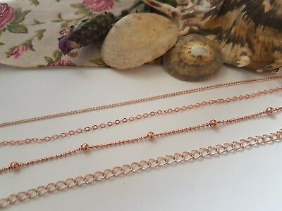 Rose Gold Metal Jewellery Chain,all Styles, Necklace Bracelet Craft Making • 2£