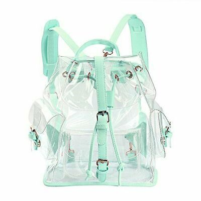 $23.98 • Buy Girl's Summer Clear Backpack Clear Transparent Candy Bag Satchel Tote School Bag