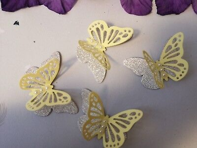 Yellow Paper Butterflies Wedding Birthday Hen  Party Table Decorations Handmade • 3.70£