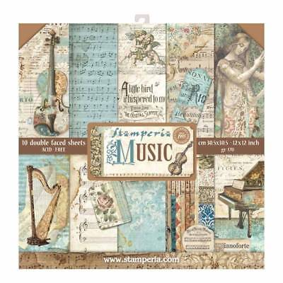 £12.60 • Buy Stamperia Music 12 X 12 Paper Pack - Violin Piano Postcards Notes