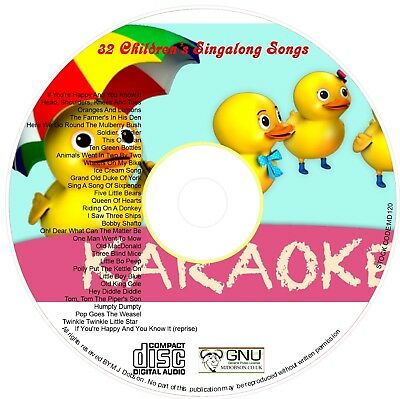 Children's Favourite Happy Nursery Rhymes Sing-along Songs On Cd • 3.99£
